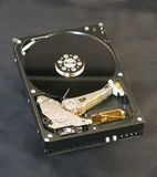 Hard Drive Exposed Royalty Free Stock Images