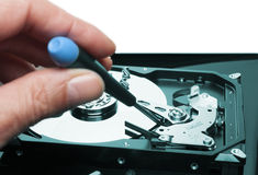 Hard drive fix Royalty Free Stock Photos