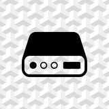 Hard drive icon stock vector illustration flat design Stock Photography