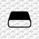 Hard drive icon stock vector illustration flat design Stock Photos