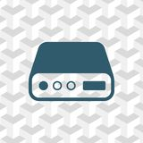 Hard drive icon stock vector illustration flat design Stock Images