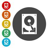 Hard drive icon. Vector icon stock illustration