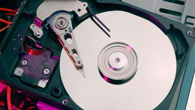 Hard drive initializing and stopping stock video footage
