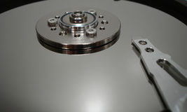 Hard Drive inside. Close Up royalty free stock image