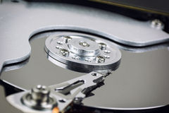 Hard drive inside close up. Stock Photo