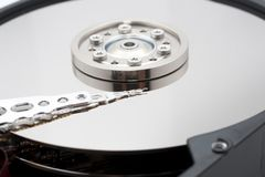 Hard drive inside details Stock Photos