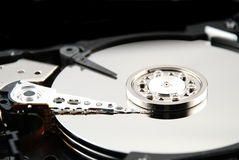 Hard drive interior Stock Image