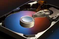 Hard drive interior Royalty Free Stock Photography