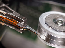 Hard Drive Interior Parts Royalty Free Stock Photo