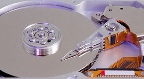 Hard drive internal parts Royalty Free Stock Image