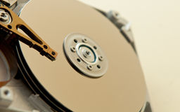 Hard drive internal parts Royalty Free Stock Photo