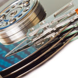 Hard drive internals Royalty Free Stock Image