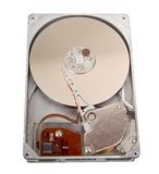 Hard Drive Isolated. Computer hard drive isolated on a solid white background Royalty Free Stock Photos