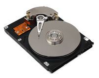 Hard drive isolated on white Stock Photography