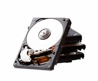 Hard drive isolated on white background. Stock Photo