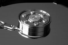 Hard drive in lateral view Stock Images