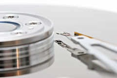 Hard drive macro Stock Photos
