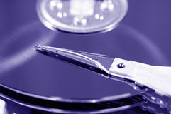 Hard drive, macro Royalty Free Stock Images