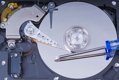 Hard drive maintenance Royalty Free Stock Photos
