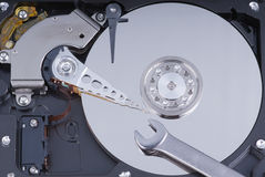 Hard drive maintenance Stock Image