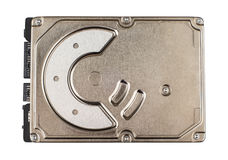 Hard drive with metal cover isolated on white Royalty Free Stock Photos