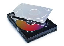 Hard Drive opened Stock Photo