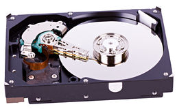 Hard drive opened Royalty Free Stock Images