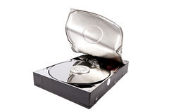 Hard drive opened by force Royalty Free Stock Photography