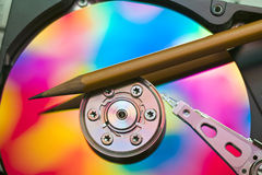 Hard drive platter Royalty Free Stock Image