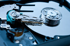 Hard drive playback head Royalty Free Stock Images