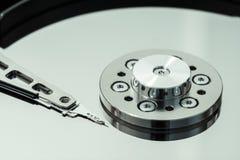 Hard drive read-write head macro Stock Image