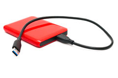 Hard drive. Red files storage Royalty Free Stock Image