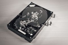 Hard drive repair. Data restore concept. Hdd service.  Stock Image