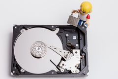 Hard drive security Stock Image