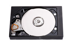 Hard drive on white Stock Images