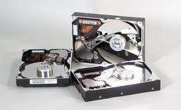 Hard Drives 2. Three hard drives royalty free stock images