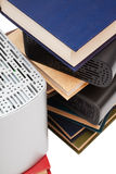 Hard drives and books Royalty Free Stock Images