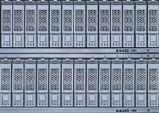 Hard drives library. Storage area network hard drives library with scsi and sata disks Stock Images
