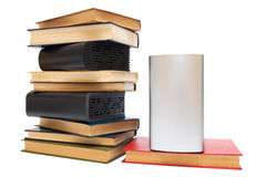 Hard drives and old books Royalty Free Stock Images
