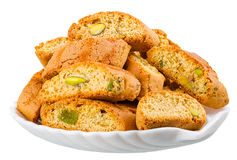 Hard, dry biscuit with pistachios Royalty Free Stock Photos