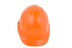 Hard hat. Orange hard hat isolated on a white background Royalty Free Stock Photos