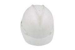 Hard hat. White hard hat isolated on a white background Stock Photo