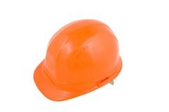 Hard hat. Orange hard hat isolated on a white background Royalty Free Stock Image