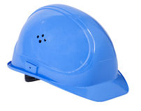 Hard Hat. A blue hard hat with path royalty free stock photos