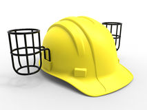 Hard hat - aluminium can holders Royalty Free Stock Photos