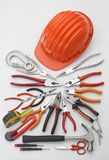 Hard Hat And Tools Royalty Free Stock Photo