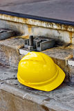Hard hat area Stock Photo
