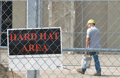 Hard Hat Area Stock Image