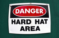Hard Hat Area. Stock Image