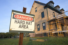 Hard Hat Area Stock Images